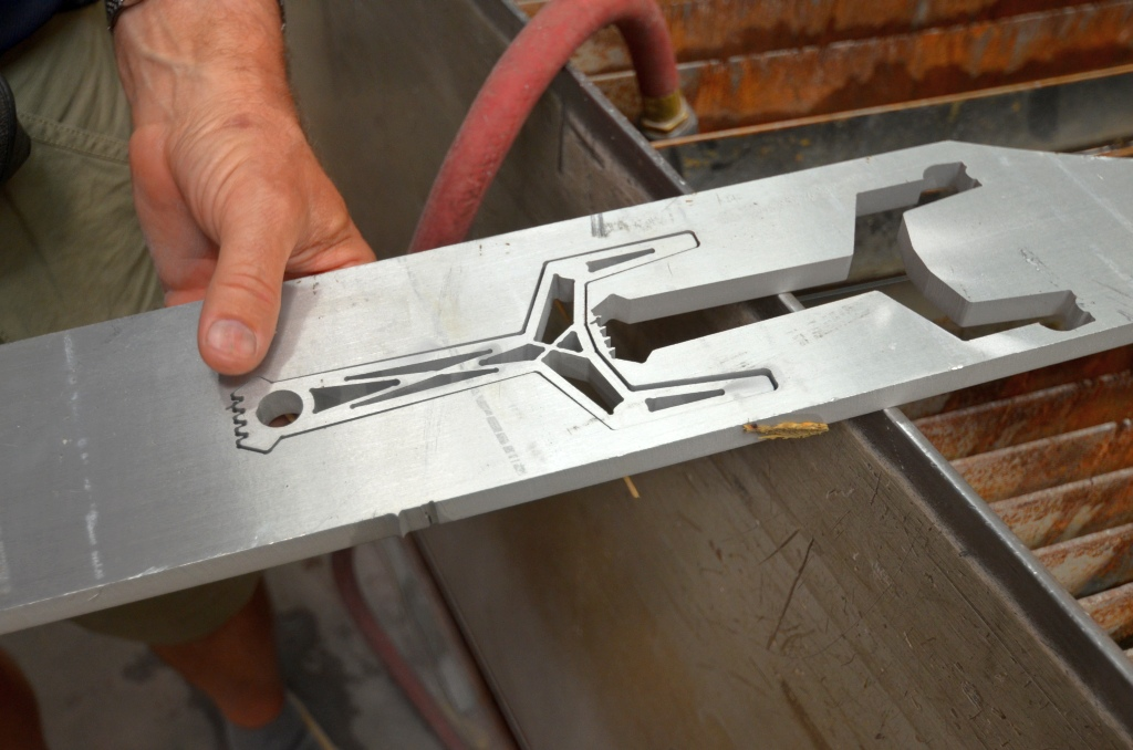 Y-shaped Slingshot Body Just Off the Water Jet at ADR Hydrocut