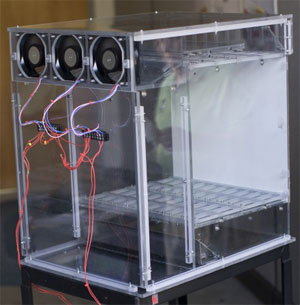 Clear Enclosure for Air Flow Testing