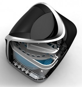 Cutaway View of SGBlue Air Purifier